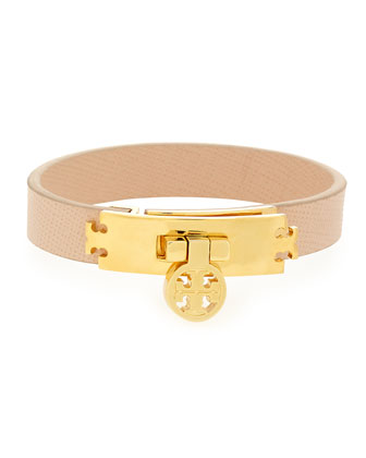 Logo Turn-Lock Leather Bracelet