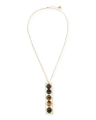 Abacus 5-Bead Horn Pendant Necklace