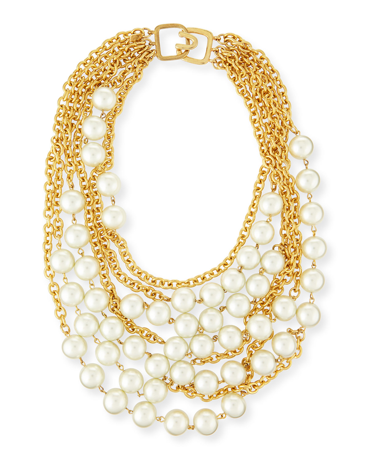 Multistrand Simulated-Pearl Necklace, PEARL - Kenneth Jay Lane