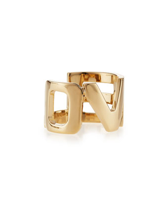 Brass Love Cutout Ring