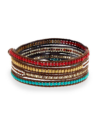 Turquoise Magnesite Wrap Bracelet