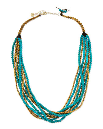 Turquoise Magnesite Multi-Strand Necklace