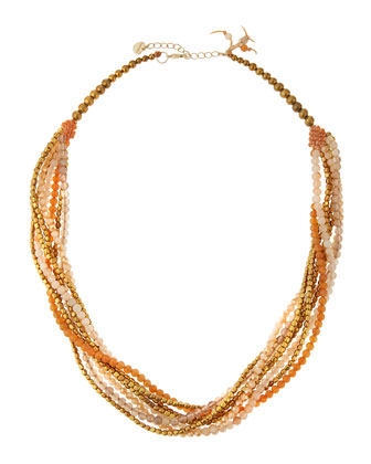 Crystal & Agate Multi-Strand Necklace