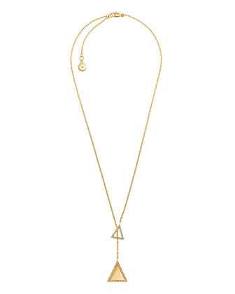 Pave Triangle Lariat Necklace