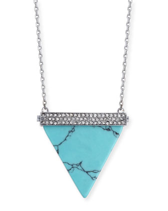 Pave Triangle Pendant Necklace