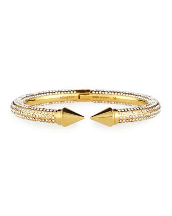 Titan Pave Crystal Hinge Bracelet