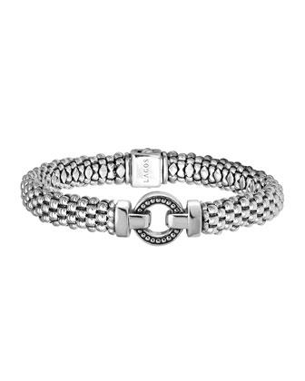 Enso Silver Caviar Rope Bracelet, 9mm