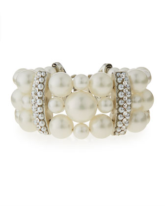 Three-Strand Simulated Pearl Bracelet