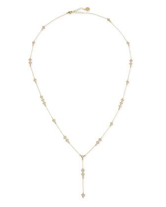 Nilotic Crystal Triangle Y-Necklace