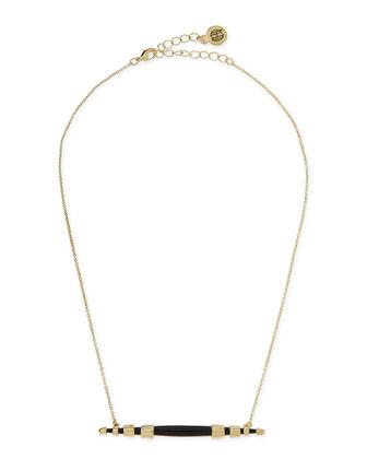 Rift Valley Horizontal Pendant Necklace, Black