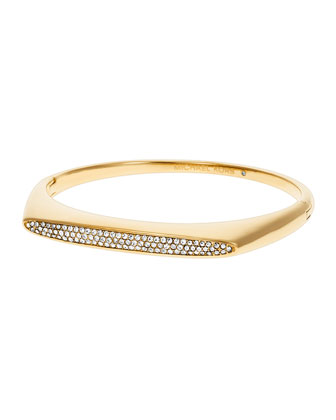 Pave Tribal Hinge Bangle Bracelet