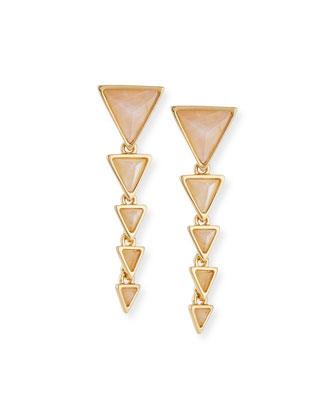 Meteora Rose Quartz Drop Earrings