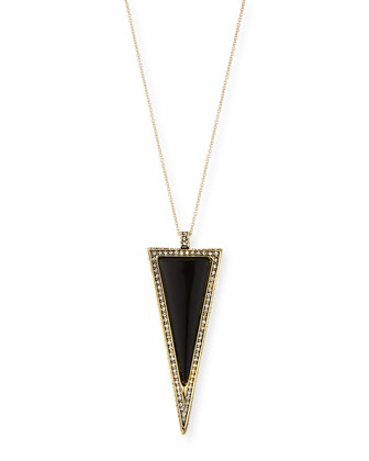 Delta Triangle Pendant Necklace, 32