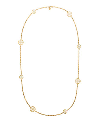 MK Monogram Disc Necklace, 40