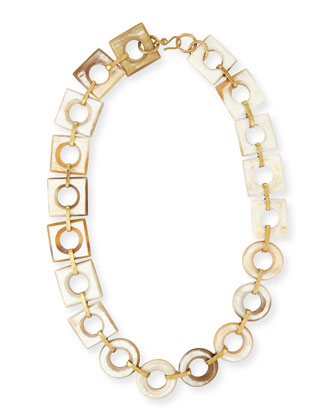 Mbele Light Horn Geometric Necklace, 34