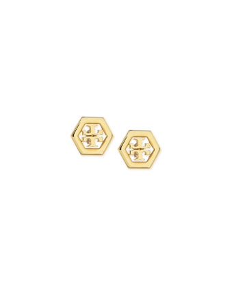 Hexagon Logo Stud Earrings