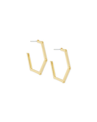Hexagon Logo Hoop Earrings