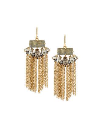 Elements Navette Tassel Earrings