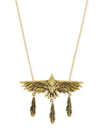 Aguila Brass Eagle Pendant Necklace