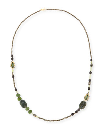 Elements Beaded Marquis Long Necklace, 42