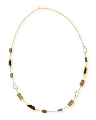 Elements Fancy-Cut Station Necklace, 42