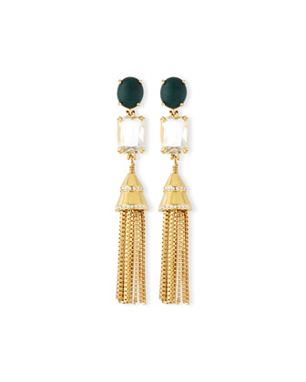Sands of Time Fishtail Tassel Chain Earrings