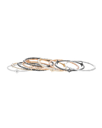 Chandler Mixed Metal Bangles, Set of 12
