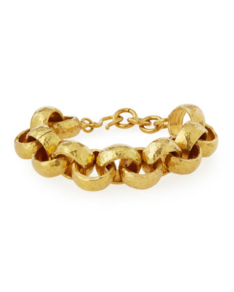 Usawa Hammered Bronze Bracelet
