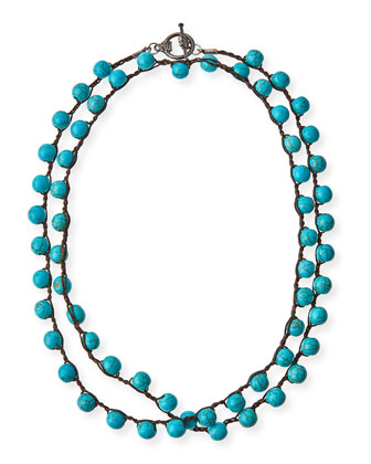 Turquoise-Dyed Long Necklace, 34