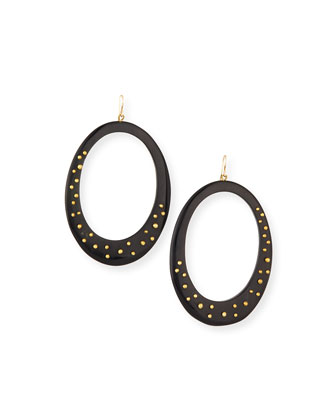 Mzima Studded Oval Drop Earrings