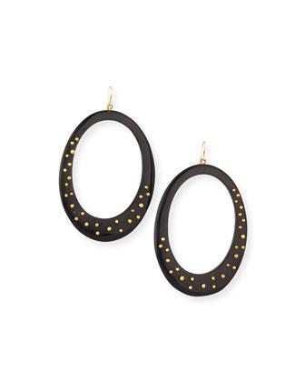 Mzima Studded Oval Drop Earrings