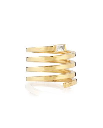Fortuna Gold Vermeil Spiral Ring