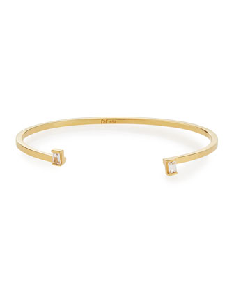 Maren Bangle with White Sapphire Tips