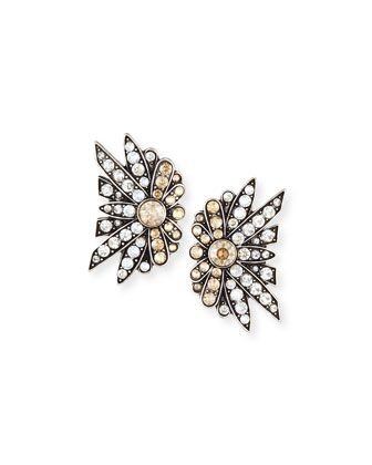 Larkspur Crystal Stud Earrings