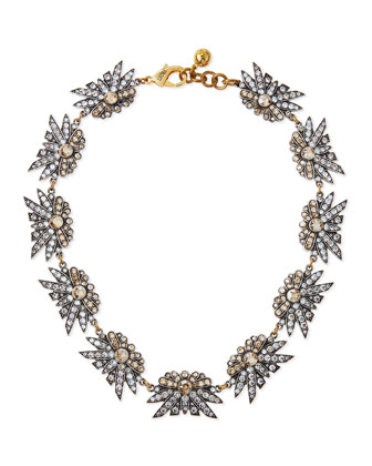 Larkspur Crystal Collar Necklace, Champagne
