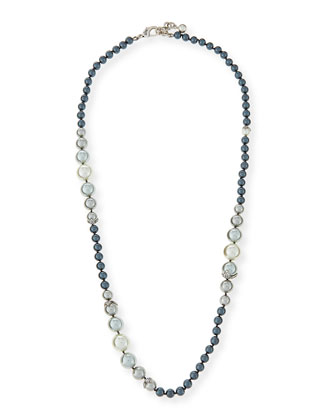 Ombre Simulated Pearl Long Necklace, 33
