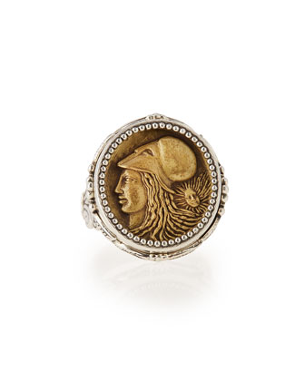 Silver and Bronze Athena Coin Ring