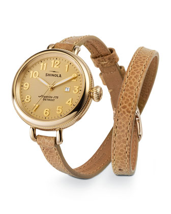 Birdy Golden Double-Wrap Watch, 34mm