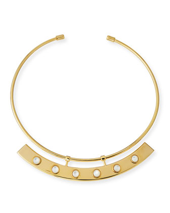 Polanco Mother-of-Pearl Collar Necklace
