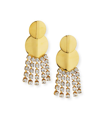 Imperial City Crystal Chain Earrings
