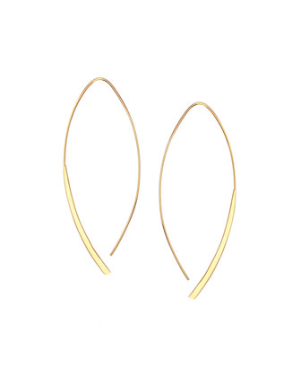 14k Small Arch Hoop Earrings