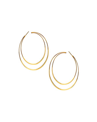 14k Elite Double Hoop Earrings