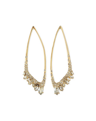 Asymmetric Jagged Marquis Cluster Earrings