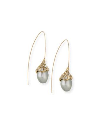 Miss Havisham Encrusted Pearl Drop Earrings