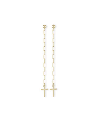 Gold Vermeil Katie Cross Chain Earrings