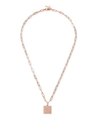 Rose Gold Vermeil Let It Be Petite Charm Necklace