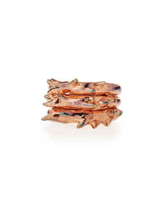 Rose Gold Vermeil Triple Thorn Ring