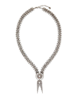 Anabel Crystal Chain Necklace