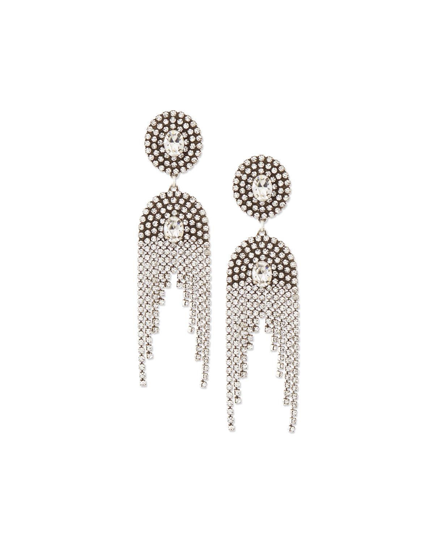 Paltrow Crystal Fringe Earrings, SILVER - Dannijo