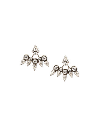 Schiffer Crystal Jacket Earrings